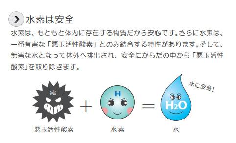 水素は悪玉活性酸素と結びつく